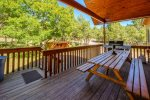 Deck and picnic table/BBQ grill