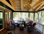 Cabin Sweet Cabin space interior with a great back deck to gather and relax