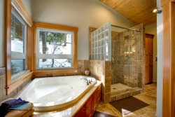 Master Bath Soaking tub and separate shower