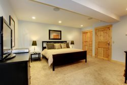 Downstairs 2nd Master Suite private, large, and has its own bathroom.