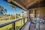 Lanai with ocean and sunset views