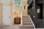 Staircase to master bedroom, junior guest suite and loft