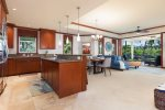 Expansive open concept kitchen