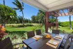Spacious double lanai with dining area