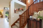 Staircase to master bedroom, guest bedroom and loft area