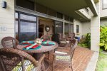 A large lanai is perfect for reading your favorite book, or a romantic dinner by moonlight