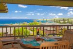 Watch sail boats, ships, whales and dolphins from your private lanai