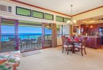The villa features fabulous ocean views from the living room, kitchen and lanai