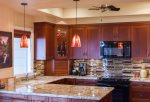 The remodeled kitchen is nothing short than a chefs` dream