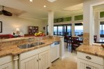 Cooking is a joy with ocean views out of every window
