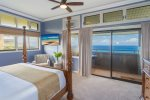 A large master bedroom offers up the ultimate luxury island retreat