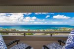 A private lanai with seating for two, along with prime ocean views, will combine to simply sweep you away