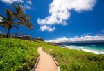 The Kapalua Coastal Trail is perfect for morning walks along Oneloa Bay and the Maui coastline