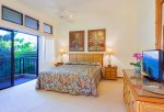 The large master bedroom with private lanai