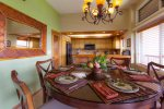 Dining table with comfortable seating for six