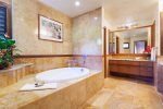 The remodeled master bath is truly heavenly