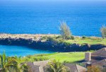 The famous 5th hole at Bay course is visible from your lanai