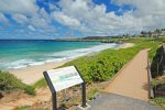 Enjoy a morning stroll on the Kapalua Coastal Trail along Oneloa Beach and the coastline