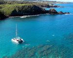 Honolua Bay, marine preserve, has the best snorkeling on the island, after Kapalua Beach