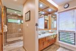 With double vanities, there is more than enough room for everyone to get ready for the day