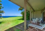 The large grass area off the lanai is perfect for sunbathing, or some added play space