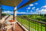 Relax on your large private lanai with fairway views of The Bay Course