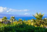The island of Molokai` in the distance is a tropical sight