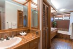 Enjoy the added space of twin vanities