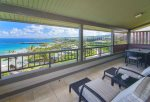 This spacious wrap around lanai showcases the very best views in the Kapalua Resort