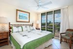 King bed room. You can see Haleakala
