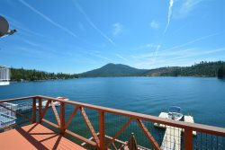 Beautiful 4 level Bass Lake lakefront home has  6 bedrooms 5 baths for $6300 per week