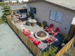 Propane BBQ, nice seating and chaise lounges are available