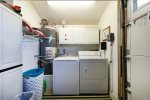 Full sized washer and dryer available