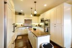 Stunning gourmet kitchen with high end appliances