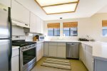 The kitchen is well equipped for meals with friends and family