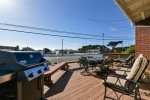 This great beach home has a large front deck to enjoy the nice weather