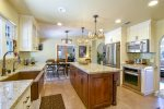 This designer kitchen has been fully remodeled