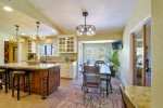 The dining is open to the kitchen and perfect for entertaining
