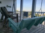 Enjoy ocean breezes, the sound of the surf and panoramic views of Tybee Beach, the pier, pavilion and the Atlantic Ocean from your balcony
