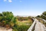 East beach access via the dunes walkover, with entrances directly outside the condominium
