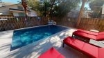 Spacious private heated pool in your fenced backyard