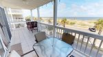 Enjoy the Panoramic View of Tybee Beach and the Atlantic Ocean from your Large Wrap-Around Balcony