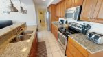 Fully functional and modern kitchen has all the necessary appliances and cookwares