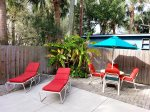 Enjoy a soak in the pool, and enjoy a soak in the sun on comfortable pool patio furniture