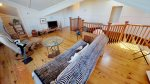 Family room loft with queen futon and flat panel TV - Upper Level