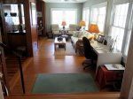 A large work desk is on the Sun Porch. The entire cottage has free fast Wi-Fi.