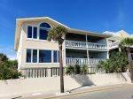 This spacious duplex is oceanfront on the first level and features panoramic views of Tybee Beach and the Atlantic Ocean - 2nd Level ONLY