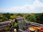 Master suite balcony with spectacular panoramic vistas of Tybee Beach and the Atlantic Ocean