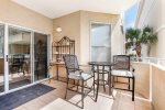 Private Balcony with Views of the Atlantic Ocean, the DeSoto Beach Club, Pool and Courtyard