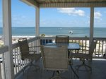 Spectacular panoramic views of Tybee beach and the Atlantic ocean from your wrap-around balconyound Balcony